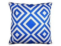 LivingStyles Set of 2 Vincent Fabric Cushions - Blue