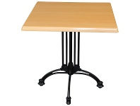 LivingStyles Trieste Commercial Grade Square Dining Table, 60cm, Beech / Black