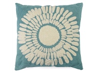 LivingStyles Set of 2 Isa Printed Fabric Scatter Cushion - Aqua