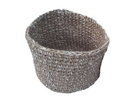 LivingStyles Roche Jute & Fabric Basket, Large