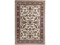 LivingStyles Julian Tait Turkish Made Oriental Rug, 170x120cm, Cream / Red