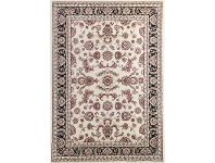 LivingStyles Julian Tait Turkish Made Oriental Rug, 330x240cm, Cream / Black