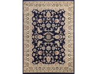LivingStyles Julian Tait Turkish Made Oriental Rug, 150x80cm, Navy / Cream