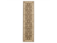 LivingStyles Jewel Chobi Turkish Made Oriental Runner Rug, 300x80cm, Brown