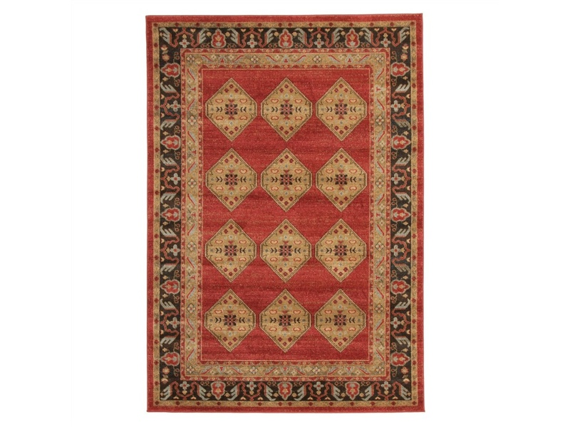 Jewel Shiraz Turkish Made Oriental Rug, 330x240cm, Red