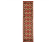LivingStyles Jewel Shiraz Turkish Made Oriental Runner Rug, 500x80cm, Red
