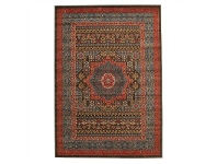 LivingStyles Jewel Antique Art Turkish Made Oriental Rug, 400x300cm, Red/Navy