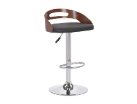 LivingStyles Hanson Gas Lift Swivel Bar Chair with PU Seat