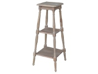 LivingStyles Cherilyn Solid Beech Wood Timber Storage Unit / Planter Stand