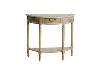 LivingStyles Louis XVI Solid Beech Timber Half Round Console Table