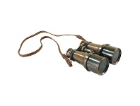 LivingStyles Victorian Solid Brass Binoculars with Leather Stap