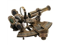 LivingStyles Victorian Solid Brass Pocket Sextant