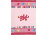 LivingStyles Annas Crown Kids Rug in Pink - 165x115cm
