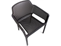 LivingStyles Net Italian Made Commercial Grade Stackable Indoor/Outdoor Armchair - Anthracite