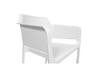 LivingStyles Net Italian Made Commercial Grade Stackable Indoor/Outdoor Armchair - White