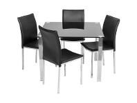 LivingStyles Kimbrell 5 Piece Dining Set with Black Bali Chairs