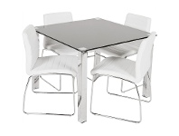 LivingStyles Kimbrell 5 Piece Dining Set with White Coogee Charis