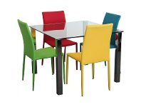 LivingStyles Kimbrell 5 Piece Dining Set with Assorted Colour Sven Chairs