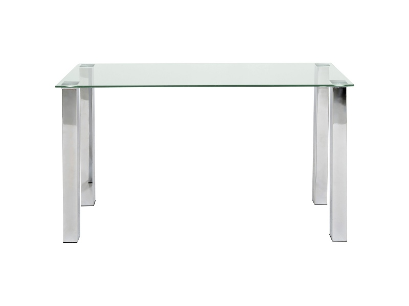 Rayna Glass Top Sofa Table, Clear