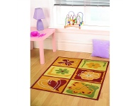 LivingStyles Designer Kids Wool Rug - K124 - Yellow - 110x160