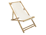 LivingStyles Allison Bamboo and Canvas Relaxing Chair