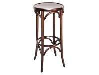 LivingStyles Florence Polish Made Commercial Grade Beech Timber Bar Stool, Walnut