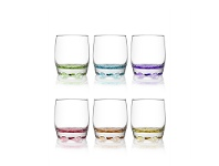 LivingStyles Adora Set of 6 Coral Double Old Fashioned Whisky Tumblers