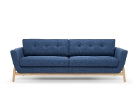 LivingStyles Greenland Fabric Sofa, 3 Seater, Navy