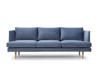 LivingStyles Mina Fabric Sofa, 3 Seater, Dust Blue