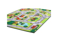 LivingStyles Town Centre Road Map Kids Rug, 150x100cm, Multi