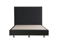 LivingStyles Luca's Fabric Ensemble Bed Base, Double, Charcoal