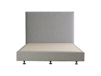 LivingStyles Luca's Fabric Ensemble Bed Base, Double, Light Grey