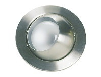 LivingStyles Eyeball Recessed Directional Eyeball Downlight - Brushed Chrome (Oriel Lighting) (LF4100BCH)