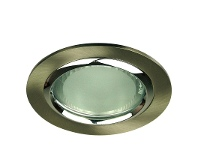LivingStyles Vida Round Glass Covered Downlight - Brushed Chrome (Oriel Lighting) (LF4593BCH)