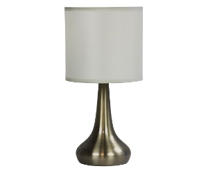 Lola 3 Stage Touch Table Lamp, Antique Brass