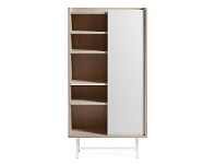 LivingStyles Buxton Sliding Door Bookcase / Display Cabinet