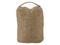 LivingStyles Wilby Knitted Fabric Door Stopper, Brown