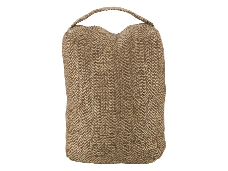 Wilby Knitted Fabric Door Stopper, Brown