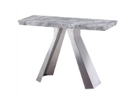 LivingStyles Carmen Marble Top Stainless Steel 120cm Console Table