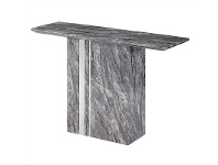 LivingStyles Nicasio Marble 120cm Pedestal Console Table