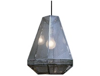 LivingStyles RTDC Perforated Metal Large Pendant Light - Chrome