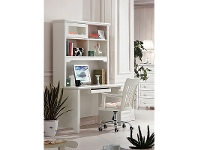LivingStyles Belly 120cm Study Desk with Hutch