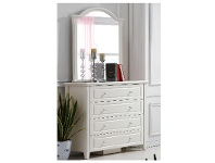 LivingStyles Belly 4 Drawer Dressing Table with Mirror