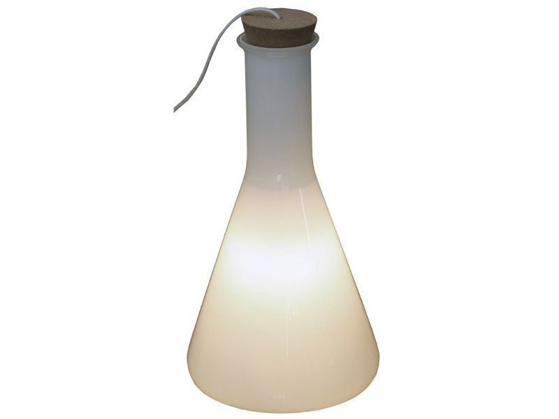 Skidby Glass Cone Flask Table Lamp