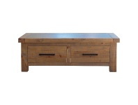 LivingStyles Sefton Concrete Top Pine Timber Coffee Table, 120cm