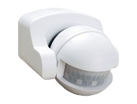 LivingStyles 180 Degree Wall-Under Eave Mounted Lightwatch Motion Sensor - White (Oriel Lighting)