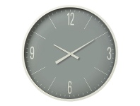 LivingStyles Pearson Metal Frame Round Wall Clock, 87cm, White Frame