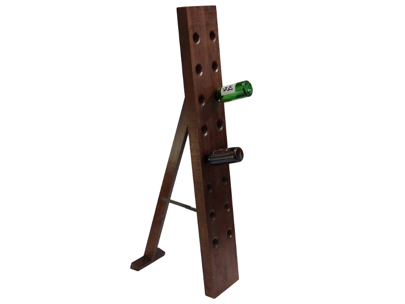 Wago Wago Solid Mango Wood Timber 16 Bottle Wine Rack - Darl Walnut