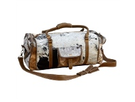 LivingStyles Kymbly Cowhide Overnight Bag