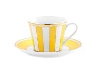 LivingStyles Noritake Carnivale Fine Porcelain Cup & Saucer Set, Yellow